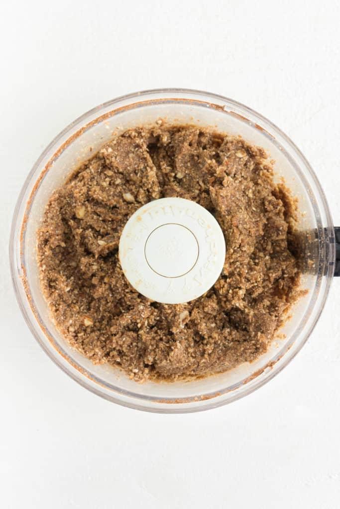 no-bake dough inside a food processor