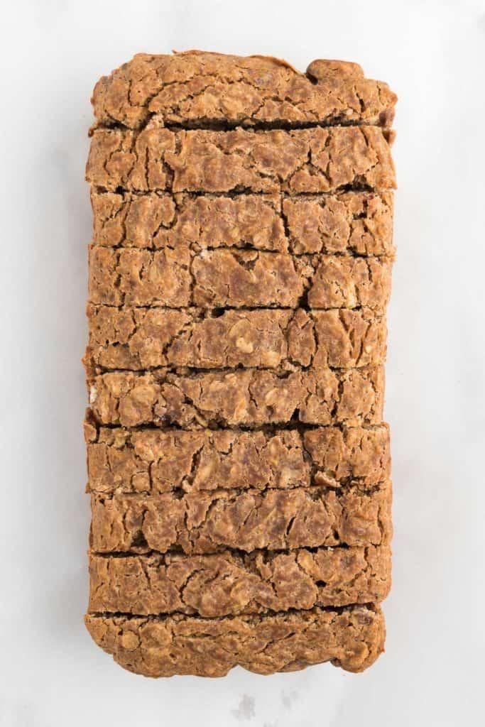 10 slices of vegan gluten-free apple cinnamon bread