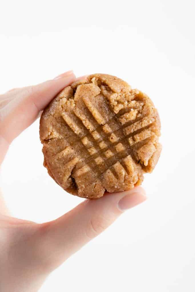 hand holding a no bake cookie