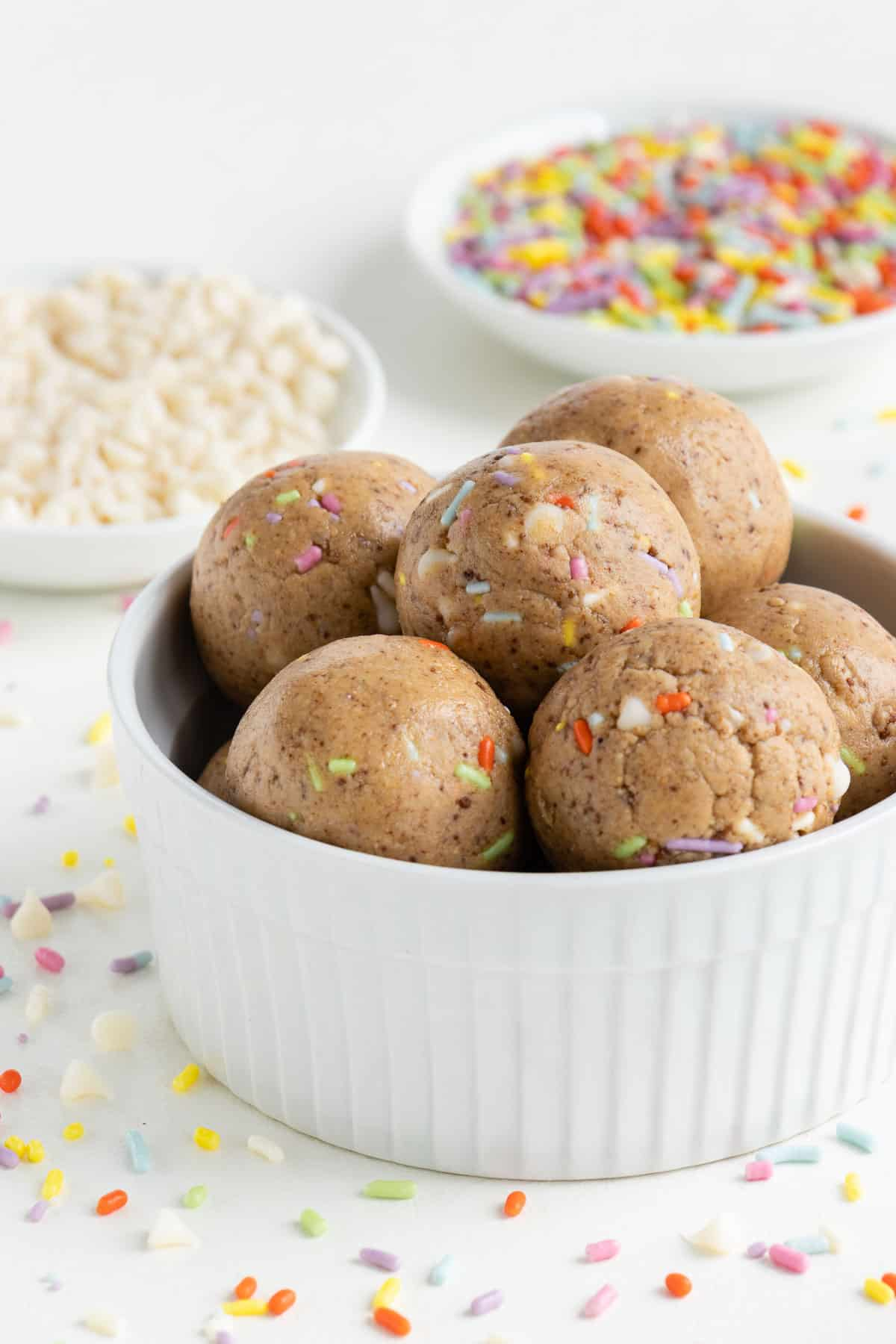 Enjoyable Birthday Cake Energy Balls Purely Kaylie Personalised Birthday Cards Veneteletsinfo