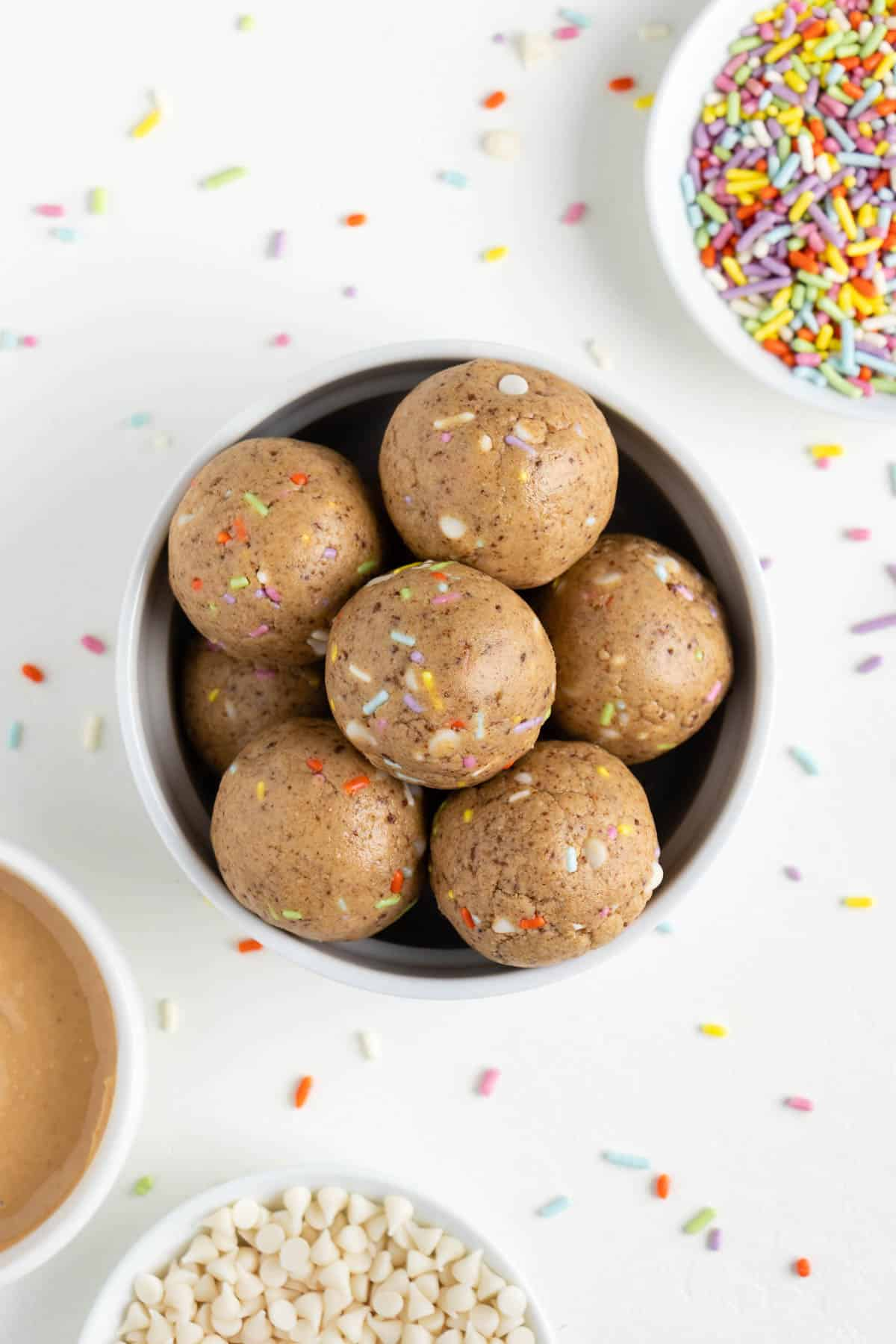 Cool Birthday Cake Energy Balls Purely Kaylie Personalised Birthday Cards Veneteletsinfo